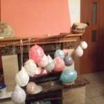 Oklejone balony czekają na wyschnięcie
